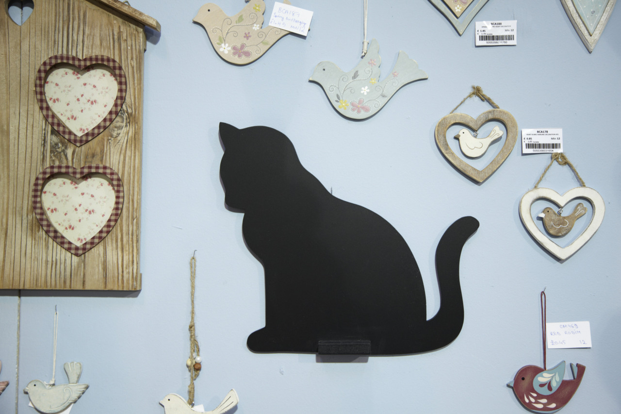 Our cat-shaped chalk board. £4.95