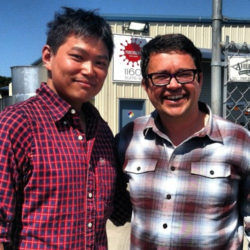 Honored to have Chef Michael Han and his Dad taste at the winery today. #singapore #awesome