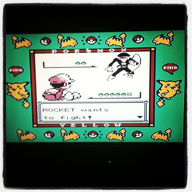 nathantz:  #BringIt #TeamRocket! #pokemon #yellow #nintendo #super #gameboy