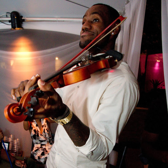 """Hey Kobe, want me to play it on a smaller violin?"""