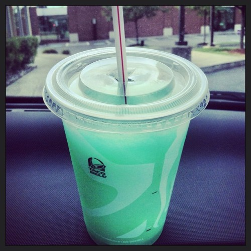 #TacoBell has a #BajaBlastFreeze now?? #Sexual #420 #munchies #noms #fuckyea