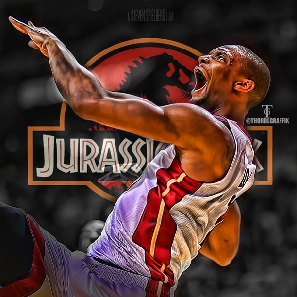 Photo: The Chris Bosh Jurassic Park Poster. (via @Thorolgraffix)