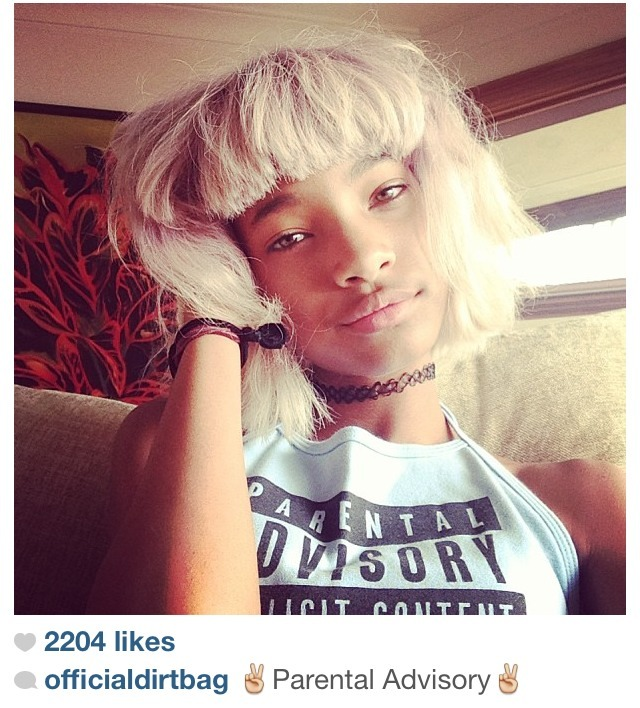 Our girl willow smith in the parental advisory halter!