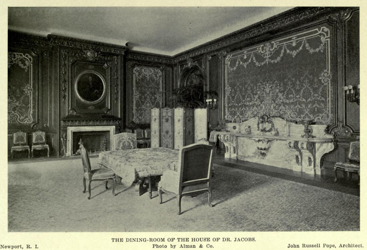 Inside the dining room of Pope's Jacobs Residence, Newport