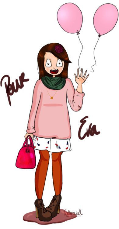 I did it for a french fashion blogger ! You can see her blog : evasblog.illustrateur.org ! :D