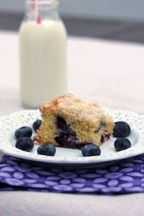 bakeddd:  blueberry cornmeal butter cake click here for recipe