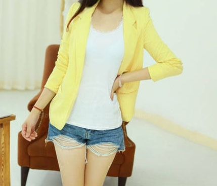 daiquiri-kisses:  Candy Color Blazer