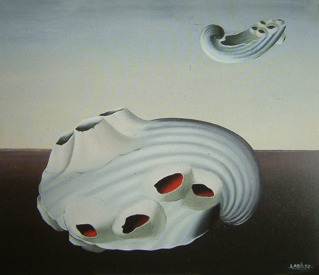 La Conscience tranquille by Felix Labisse, 1952. Oil on canvas.