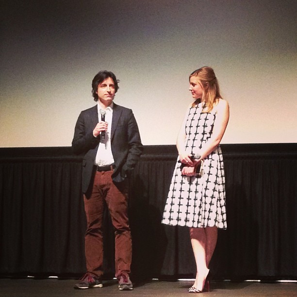 Noah Baumbach and Greta Gerwig at the post-screening Q&A for FRANCES HA (at Sundance Kabuki Cinemas)
