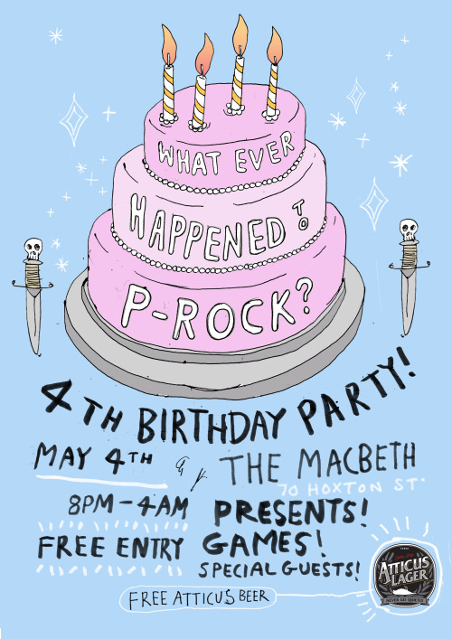 What Ever Happened to P-Rock..4th Birthday Party at the Macbeth on May 4th..good show sir.