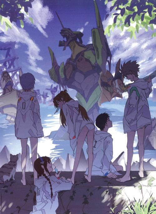 "Evangelion""Eva Extra-Extra"" booklet, staff illustrationsMore here. #evangelion #rebuild of evangelion  #neon genesis evangelion  #evangelion 3.0+1.0  #thrice upon a time #shinji ikari#rei ayanami#asuka langley#kaworu nagisa#mari makinami#kensuke aida#yui ikari#gendo ikari#misato katsuragi#ryoji kaji#ritsuko akagi#maya ibuki#midori kitakami#nge#official art#3+1 spoilers #people on Twitter real mad abt the baby Shinji picture. wondering if I should put it in the next one"