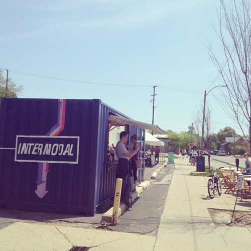 Intermodal Pop-Up. Coffee shop. #ReState #GrandRapids (at Re//state)