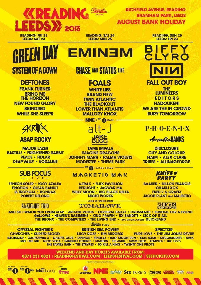 Reading/Leeds Festival now looks like this!
