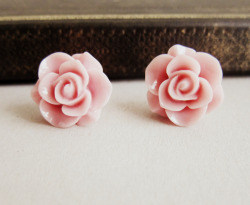 Pink Rose Earrings - JEWELSALEM