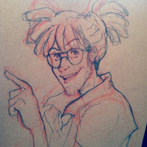bigbigtruck:  neobamboom:  Drawin this adorable motherfucker. Thanks TJ for keeping me up late 😗   Waaahhh! :D Look at this qt