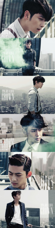 2PM 3rd Album #GROWN posters  via: @2PM_Memoria @twooneday