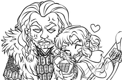 soraofskye:  I can't help but think that Kili is in love is Uncle Thorin's fur coat. I mean just look at it! It's so fluffy!
