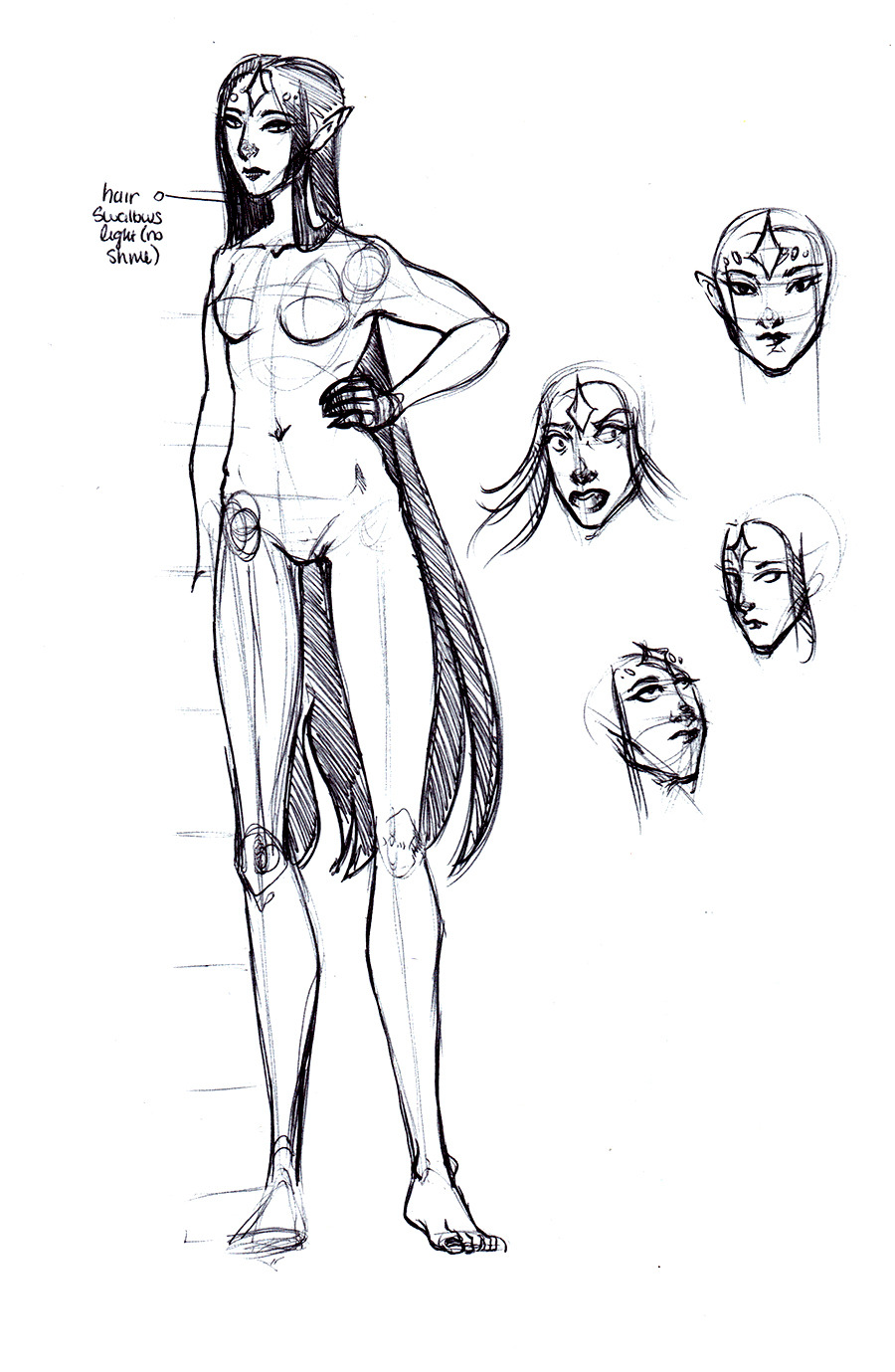 More sketches from when I shoulda been paying attention! Dusk Queen this time.