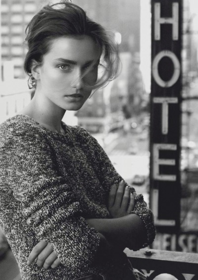 """New York"", Andreea Diaconu photographed by David Sims in Vogue Paris February 2013"