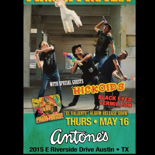 New flyer for our Thurs.May16 CD release show at Antones in Austin, TX w/ Hickoids & Black Eyed Vermillion. #yolo