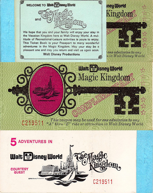 1970's Employee's WDW Ticket Book by UFG8R on Flickr.