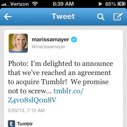 Okay, Tumblr pr0n, you heard the boss. Clean it up! #Yahoo #Trunc-hate