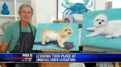 "cashmoneybaby:  ""He started out painting dogs, and I think he said he's painted over 50 dogs,  is ""going to go down in the history books as a great artist."""