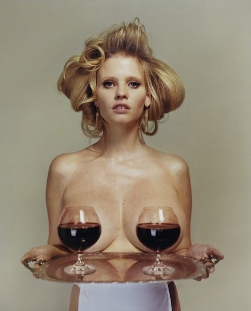 Lara Stone by Tyrone Leblon for i-D, spring 2013