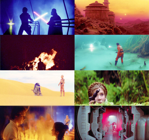 rachelanneh:  Star Wars Original Trilogy | colors abound