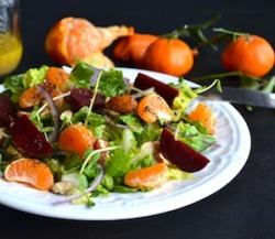 findvegan:  Mandarin Beet Salad with Mandarin Poppyseed Dressing