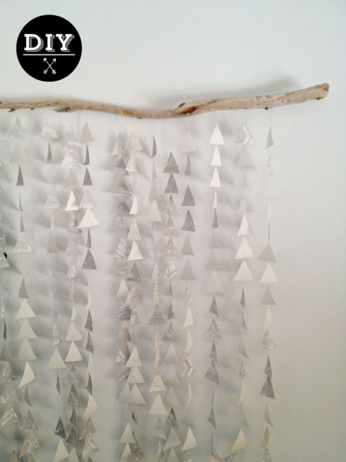littlecraziness:  (via Poppytalk: DIY: Paper Garland Mobile/Backdrop)