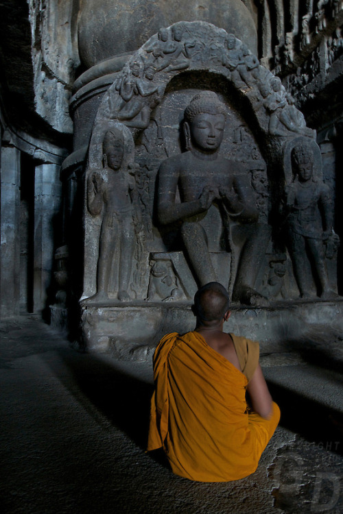kelledia:  Ellora Buddhist caves, India.