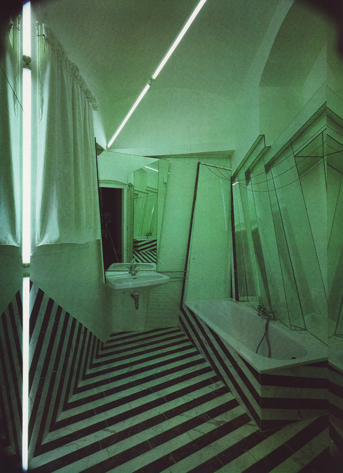 2087:  astounding. somebody made a german expressionist bathroom