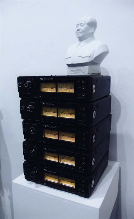 "Terry Adkins, Darkwater Record, 2003.  Tape recorders, porcelain bust, cassette tape loops of excerpts from ""Socialism and the American Negro"" speech by W.E.B. DuBois.  Courtesy of Blanche Bruce. Adkins will have a solo exhibition opening at the Mary and Leigh Block Museum of Art on January 11 and running through March 24, 2013.   The Renaissance Society's Director of Education and Associate Curator, Hamza Walker, will be on an opening reception panel with curators Naomi Beckwith of the Museum of Contemporary Art Chicago, artists Dawoud Bey and Theaster Gates, Tang Museum director Ian Berry, and Northwestern art history professor Huey Copeland. Reception at 2 pm; discussion at 3 pm."