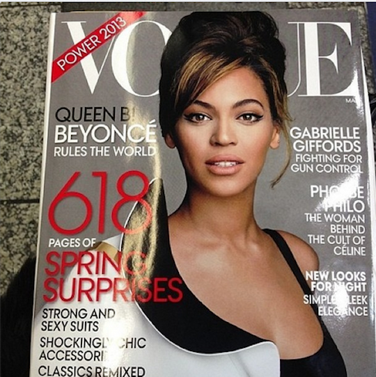 """The Alleged Cover"" So, will Beyoncé cover Vogue next month? Hmm…"