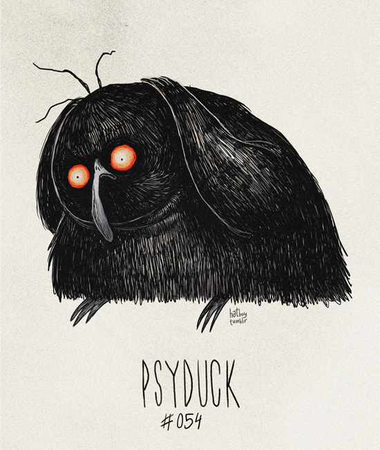 Psyduck #054 Part of The Tim Burton x PKMN Project By Vaughn Pinpin  It's sad because it always has a headache. Psy-ay-ay-ayyy…