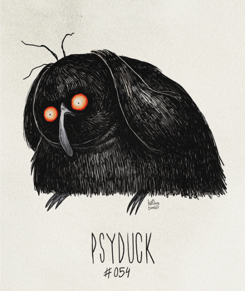 hatboy:  Psyduck #054 Part of The Tim Burton x PKMN Project By Vaughn Pinpin It's sad because it always has a headache. Psy-ay-ay-ayyy…