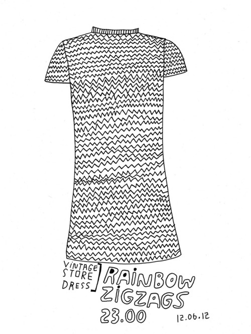 Daily Purchase Drawing for 12.06.12  Rainbow zigzag dress from a vintage store in Columbia, MO.