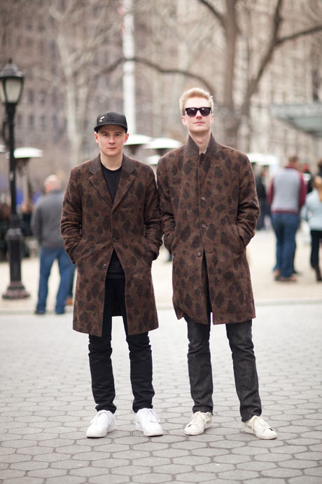 details:  Street Style: Two Leopard-Camo Coats Are Better Than One