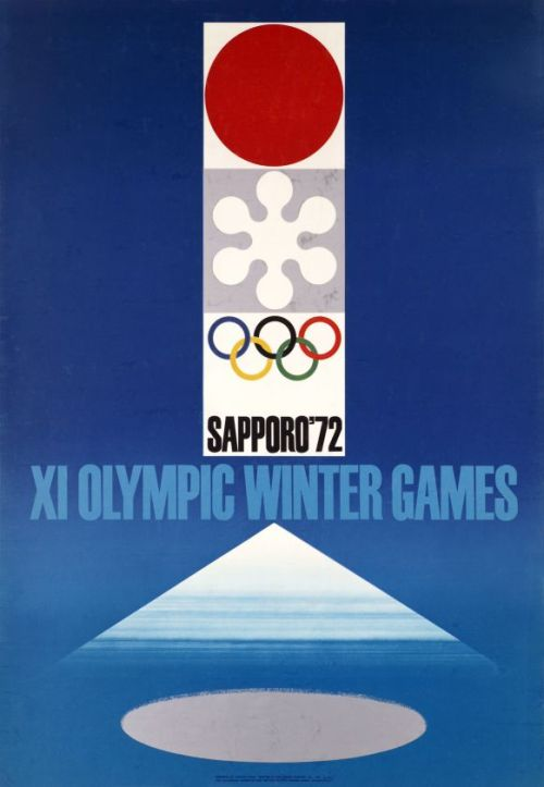 Japanese Poster: Sapporo 72 Winter Olympic Games. Takashi Kono. 1972