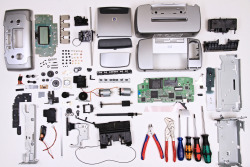xlidlessx:  thingsorganizedneatly:   reverse engineering an old printer   Did you know?  It's really fucking hard to manufacture stuff