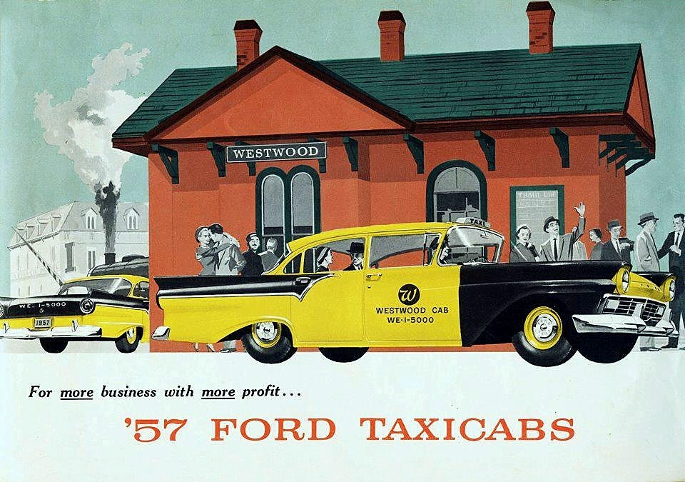 Westwood Cab… 1957 Ford Commercial brochure illustration