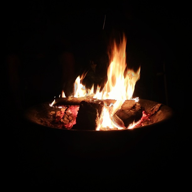 Summer, music, fire, and friends <3