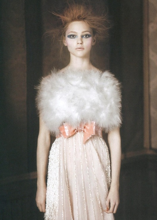 lavandula:  sasha pivovarova shot by paolo roversi for vogue italia