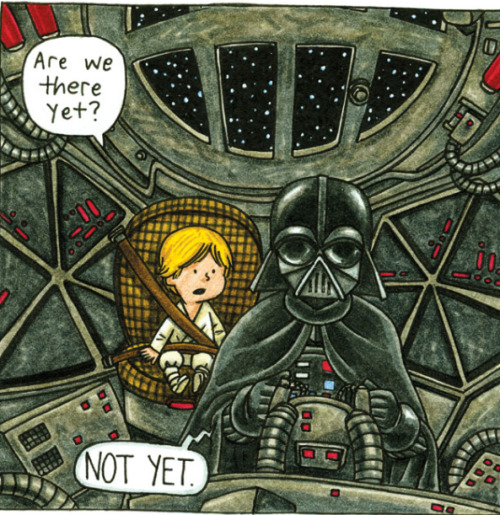 thekhooll:  Darth Vader and Son What if Darth Vader took an active role in raising his son?