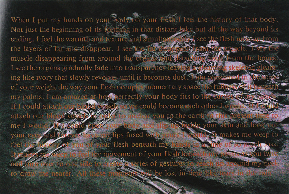 David Wojnarowicz When I Put My Hands on Your Body, 1990.