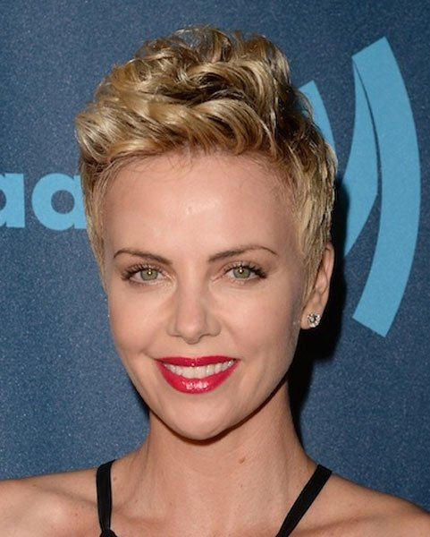 The beautiful Charlize Theron. Beautiful pixie haircut