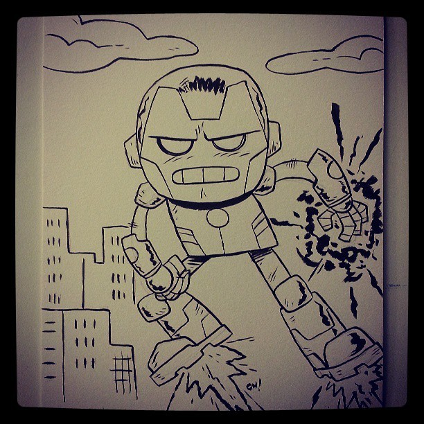 Here I have drawn Iron Man for one of my Free Comic Book Day sketches!  Get in on the deal here: http://chrishaley.tumblr.com/post/49706249703/jjmason-mingdoyle-chrishaley-society6-is