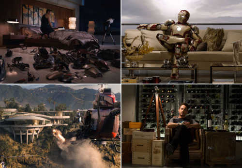 Take a tour of the Iron Man 3 luxury mansion, and get some ideas from the production designer and set director for your place.