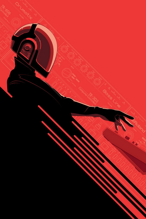 geek-art:  Geek-Art.net : Rediscovery : an artshow tribute to Daft Punk @Gauntlet Gallery Art by Craig Drak